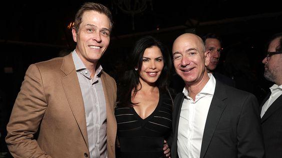 Lauren Sanchez with her ex-husband and Jeff Bezos