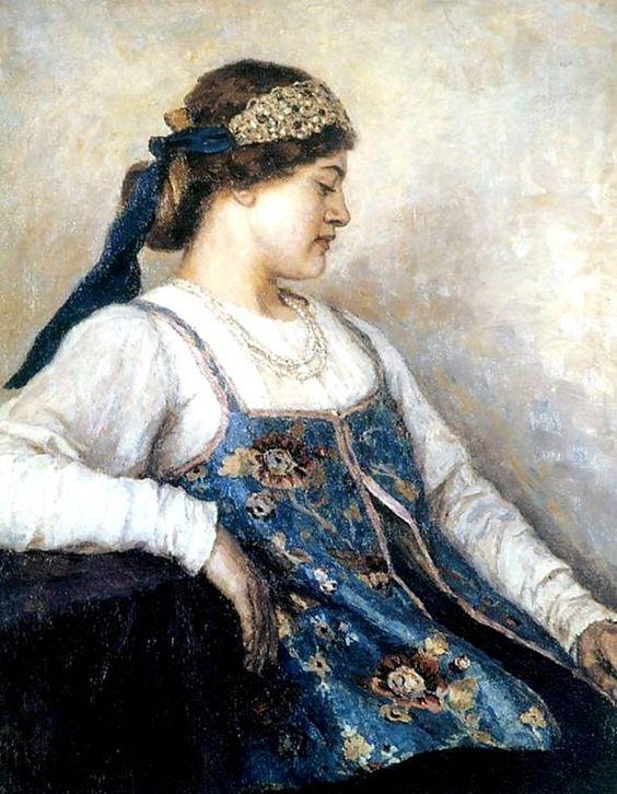 Женский портрет(Наталья Матвеева)Суриков Василий Иванович (1848–1916), русский художник, мастер русской исторической картины...: