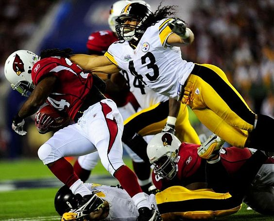 Troy Polamalu - Pittsburgh Steelers   Super Bowl XLIII