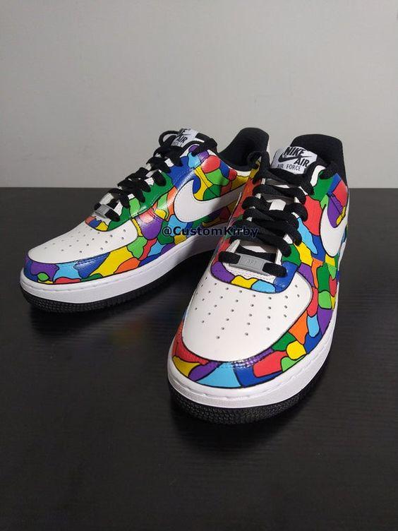 Womens Custom Nike Air force 1 Low Mosaic Design – CustomKirby
