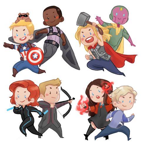 avengers 2 chibi fanart by inediblearts avengers fanart
