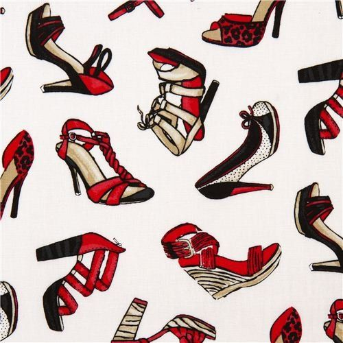 Amazon.com: white ladies shoes designer fabric with high heels USA (per 0.5m multiple): Arts, Crafts & Sewing