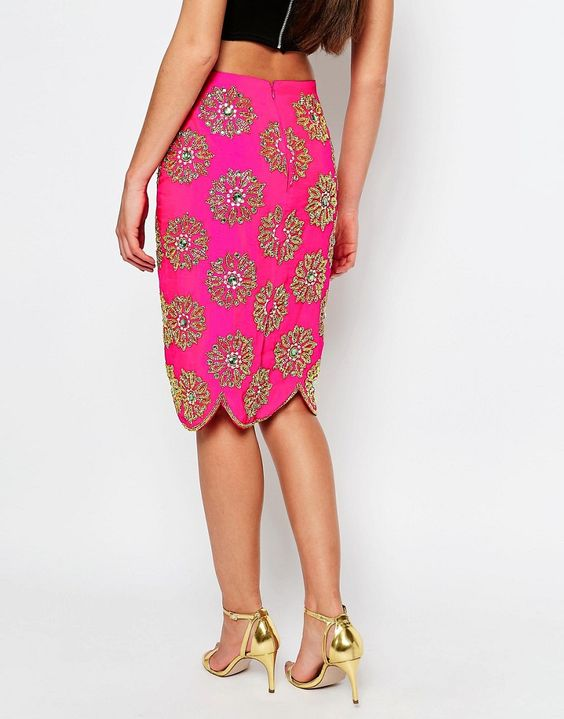 Image 2 ofVirgos Lounge Blossom Pencil Skirt