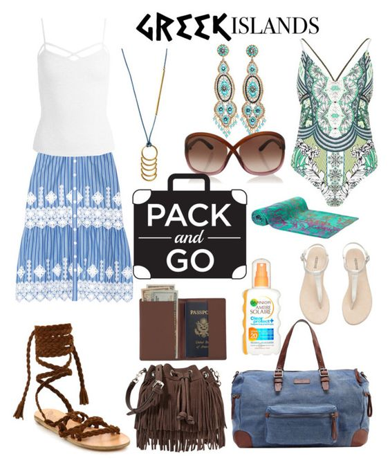 """""""Weekend Trip To The Greek Islands"""" by tammy-gardner on Polyvore featuring Miguelina, Ancient Greek Sandals, Sans Souci, River Island, Elaiva, Rebecca Minkoff, Miguel Ases, Liebeskind, Tom Ford and Royce Leather"""