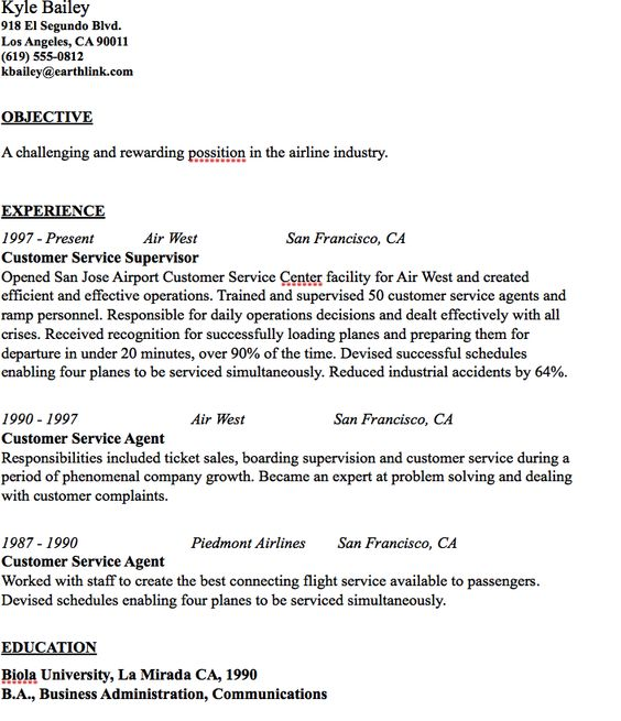 airline industry resume sample httpresumesdesignairline airline - Airline Ticket Agent Sample Resume