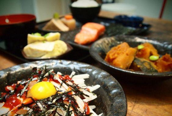 Japanese lunchfast and alcoholic boba