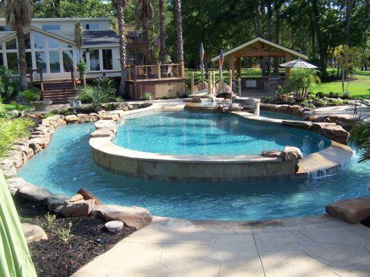 Calvary Custom Pools Lazy River Swimming Pools Backyard