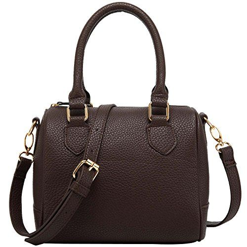 FASH Charming Bowling Handbag Style Barrel Office Purse Shoulder HandbagBrownOne Size *** Find out more about the great product at the image link.