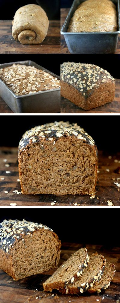 Honey Oatmeal Toasted Walnut Bread with Poppy Seeds