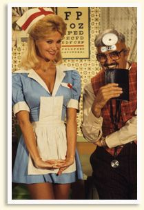 Gunilla Hutton as Nurse Goodbody  from Hee-Haw!!