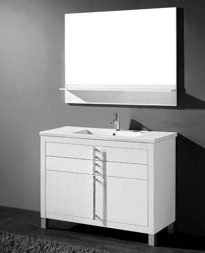Adornus Turin 48 inch White Modern Bathroom Vanity