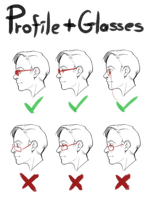 How to draw glasses in profile by mayoart on tumblr