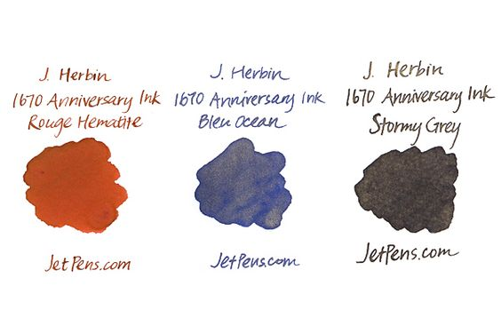 J. Herbin 1670 Anniversary Fountain Pen Ink - 50 ml Bottle - Rouge Hematite - J. HERBIN H150-26