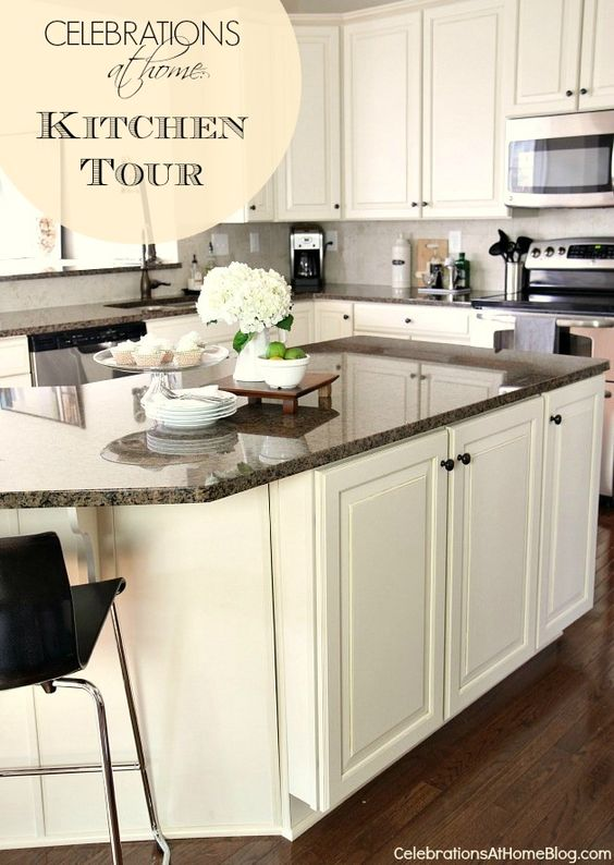 OUR HOME :: KITCHEN TOUR #kitchen #home #GraniteGold