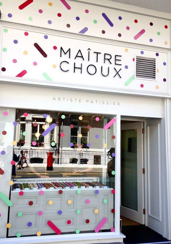 Amazing éclairs at Maître Choux an impressive shop front. #commercialconstruction:
