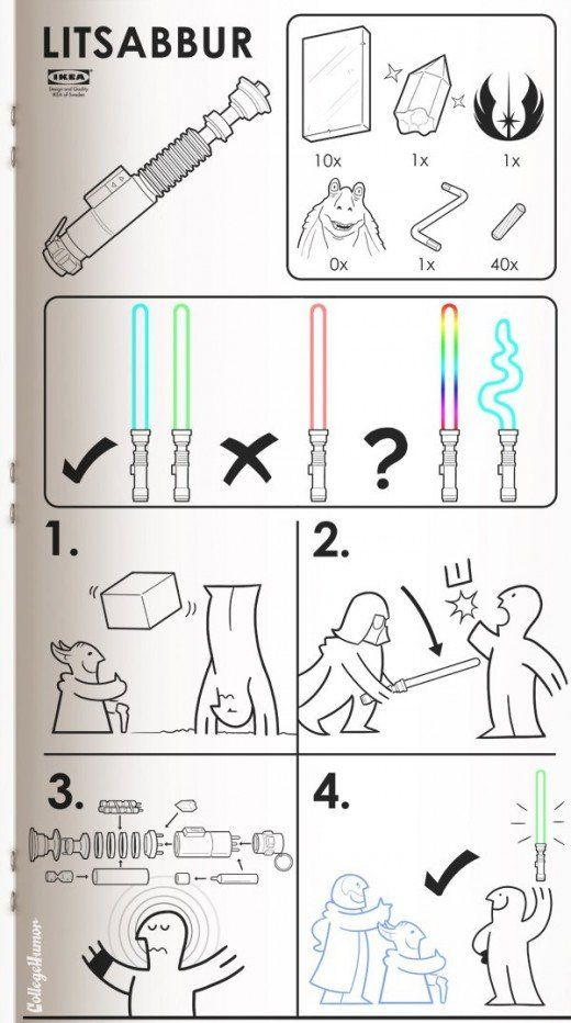 How to assemble a lightsaber...