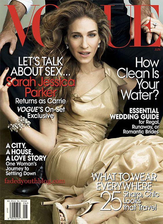 Sarah Jessica Parker, photo by Annie Leibovitz, Vogue US, June 2008*