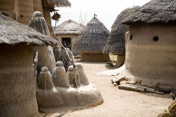 Africa | Located in the North of Togo, the Tamberma Valley is famous for it castle like mud houses called Tata.: