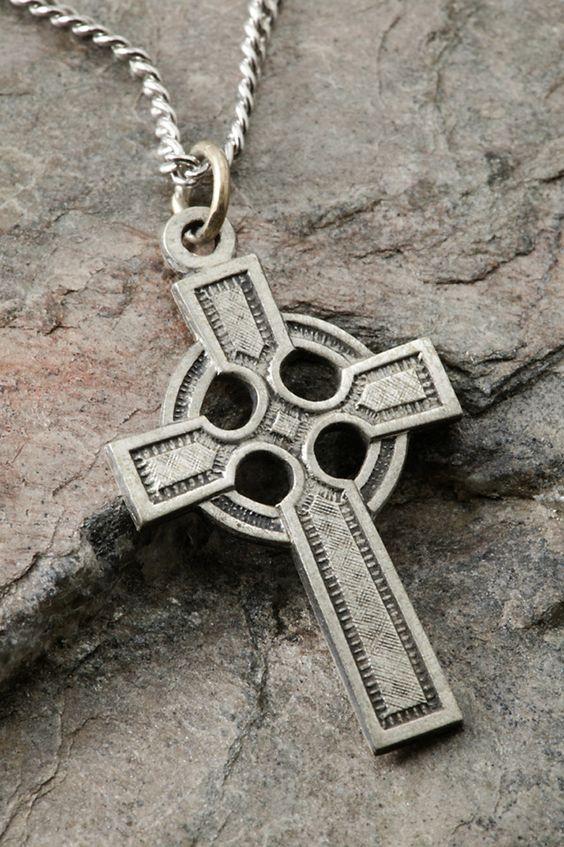 Sterling Silver Celtic Cross Pendant 28x20 MM