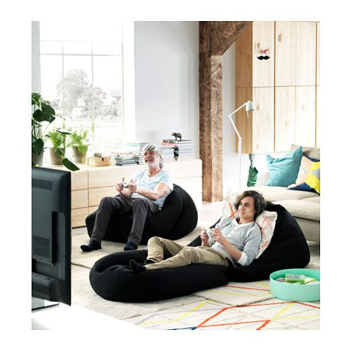 RISÖ Sitzsack drinnen/draußen - schwarz, - - IKEA