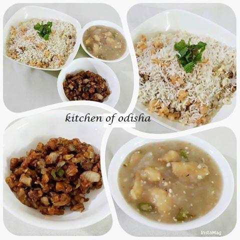 Mixed non veg fried rice  Garlic chicken  Prawn manchurian  by  Jolly Bisoyi  kitchen of odisha