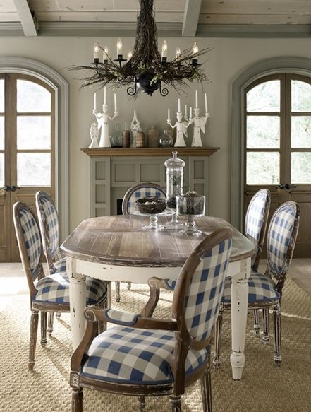 """Antique Farmhouse Dining Table - Design #2 - Expandable - Handcrafted from mahogany. - Shown in white heavy distressed finish on the base and white with french distressing on top. - Item # BR-65152 - 81""""-102""""L x 45""""W x 30""""H - Matching dining chairs available. - 50+ color & art options."""