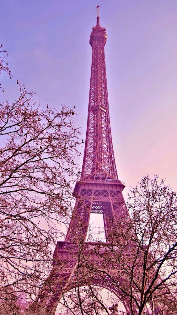 Eiffel Tower Wallpaper Pink Allofpicts