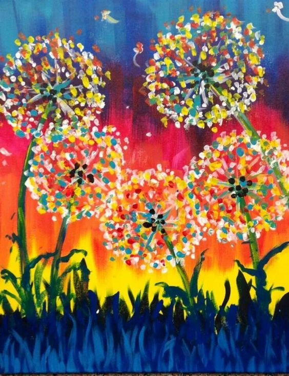 Acryln gel pinsel and pastellkunst on pinterest for Cute painting ideas for kids