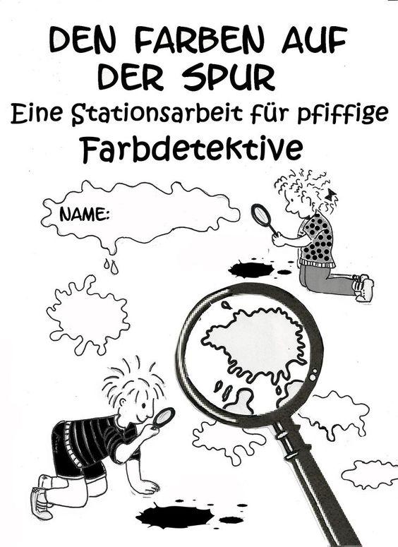 Warme Farben Grundschule : Kunstunterricht in der Grundschule, Stationsarbeiten zu Wassily