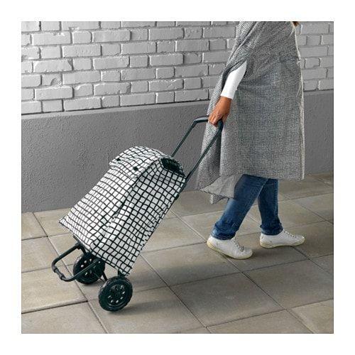 Knalla Saco De Compras C Rodas Preto Branco Ikea Shopping Bag Shopping Bags
