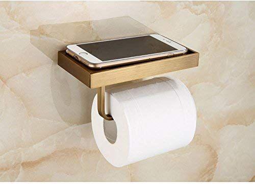 Amazon Com Racheljp Tissue Roll Holder With Mobile Phone Shorage Shelf Upgrade Toilet Paper Interior Design Toilet Small Bathroom Decor Bathroom Design Luxury