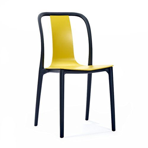 Hzb American Style Simple Backrest Plastic Chair Modern Dining