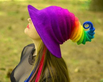 Halloween Witch Hat. Wizard Costume Hat. Fantasy by HandiCraftKate