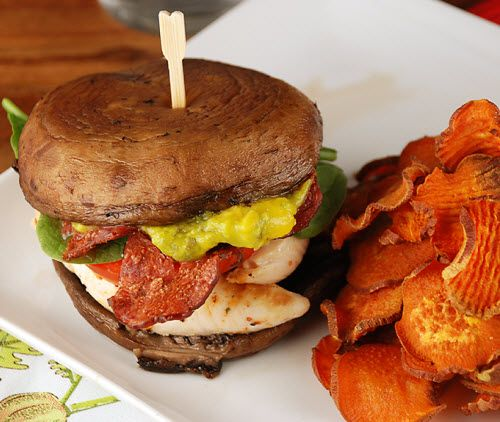 Portabella Sandwich Stack. Perfect for #MeatlessMonday!