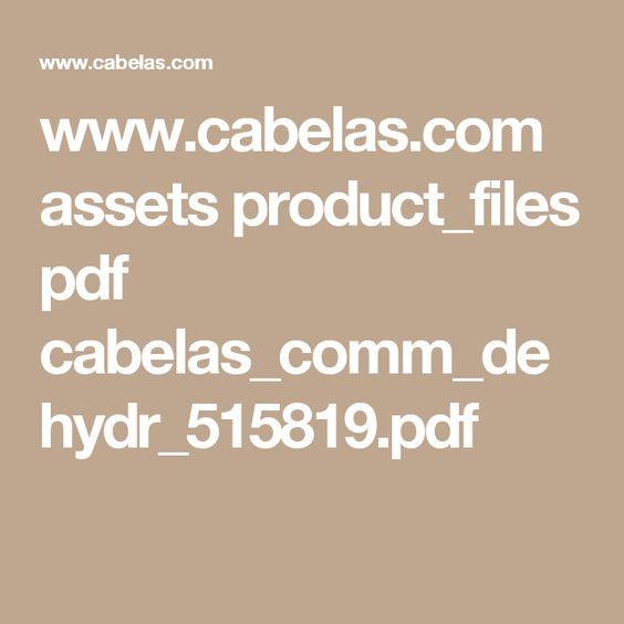 www.cabelas.com assets product_files pdf cabelas_comm_dehydr_515819.pdf