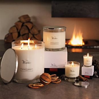 Winter Range from The White Company ~ Just the perfect candle arrangement for Autumn/Winter!