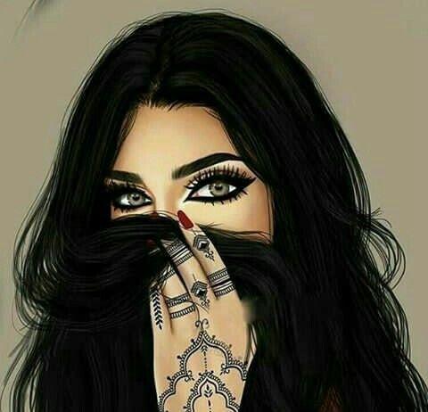 Pin By نازیہ صدیقی On Pretty Girls Sarra Art Girly Drawings Digital Art Girl