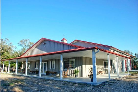 Barndominium the wrap and metal buildings on pinterest for Metal building home floor plans texas