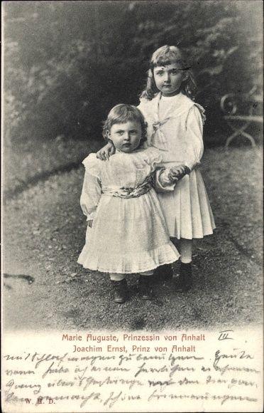 Ansichtskarte / Postkarte Prinzessin Marie Auguste von Anhalt, Prinz Joachim Ernst von Anhalt