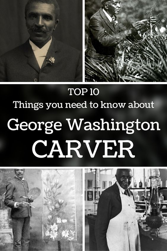 George Washington Carver - Thanks to all his research, today there is a museum and monument in his honour, and he is introduced in the National Inventors Hall of  Fame.