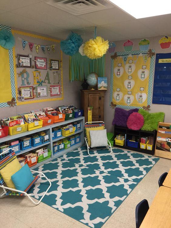Classroom Theme Ideas For 3rd Grade ~ Reading center mrs kondo s class rd grade classroom