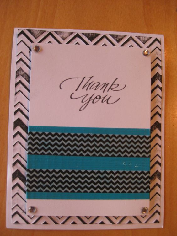 Thank you challenge card by Hannah