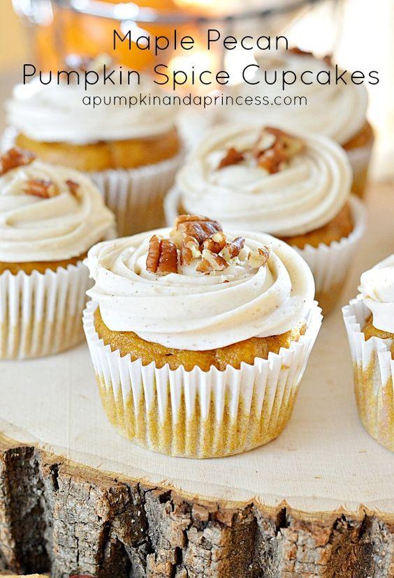 Pumpkin And Yellow Cake Mix Cupcakes