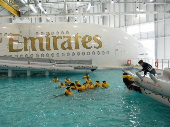 Emirates A380 Crew Ditching Training My Inspiration Pinterest Training