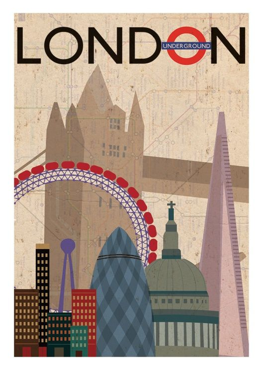 London landmark illustration by Picture Deckss