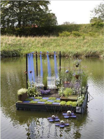 Jardim flutuante