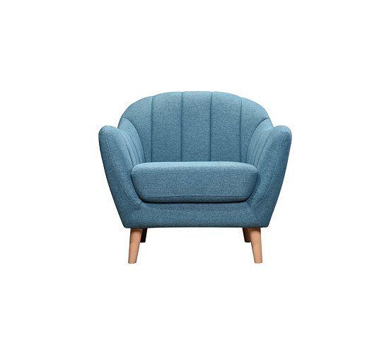 soldes fauteuil pas cher tissu bleu