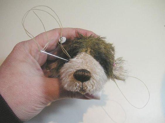 вышиваем глаза мишке тедди