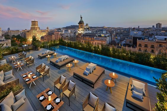 Terrat, Barcelona - Commanding magnificent views over one of Europe's most charming, vibrant and cosmopolitan city, Terrat is a stylish venue, offering light gourmet treats and refreshing cocktails along with a glistening swimming pool.