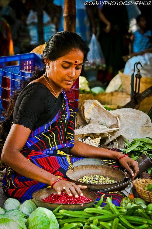 Street market , India